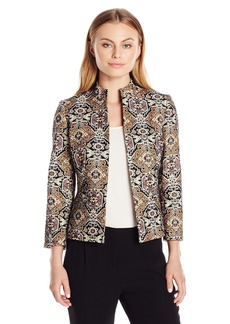 Kasper Women's Petite Metallic Jacquard Jacket  10P