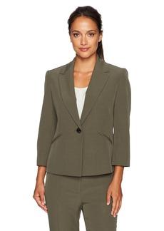 Kasper Women's Petite Size 1 Button Jacket  14P
