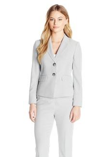 Kasper Women's Petite Size 2 Button Notch Collar Pinstripe Seersucker Jacket  6P