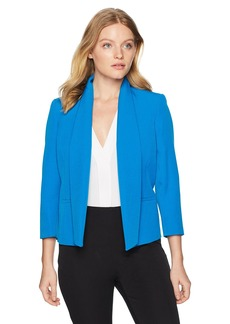 Kasper Women's Petite Solid Stretch Open Jacket With Pockets  4P