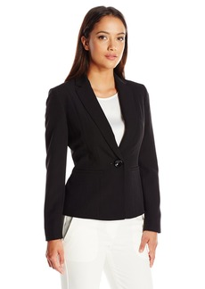 Kasper Women's Size Stretch Crepe One Button Jacket