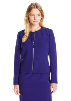 Kasper Women's Size Stretch Crepe Zip Front Jacket