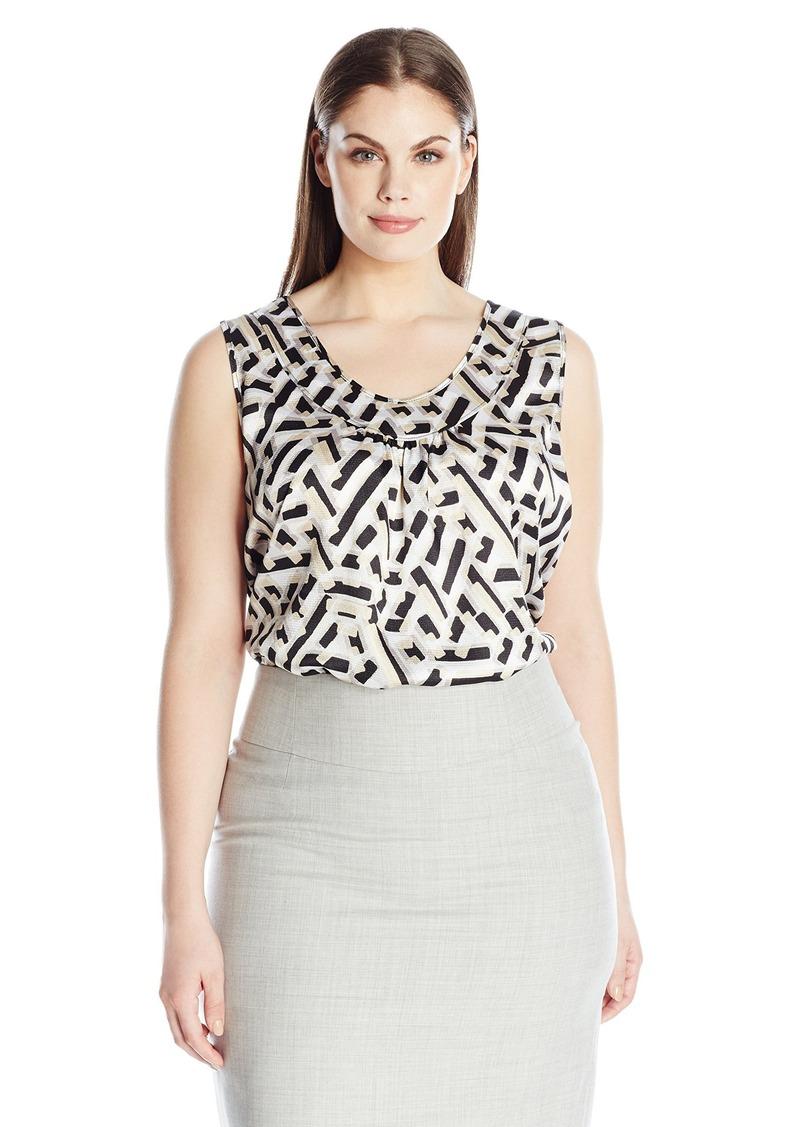 4d449c1b57e Kasper Kasper Women s Plus Size Confetti Print Blouse