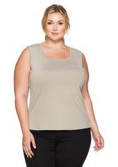 Kasper Women's Plus Size Square Neck Top