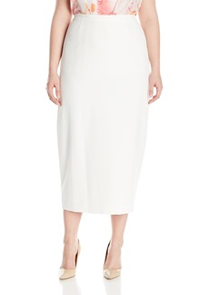 Kasper Women's Plus Size Stretch Crepe Column Skirt