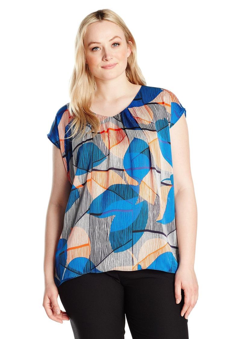 f8c61681b6b SALE! Kasper Kasper Women s Plus Size V Neck Abstract Printed Cami