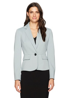Kasper Women's Ponte 1 Button Notch Lapel Jacket