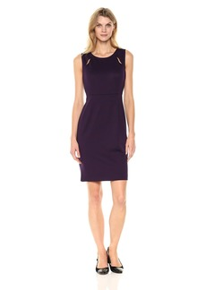Kasper Women's Ponte Sheath Dress BlackBerry