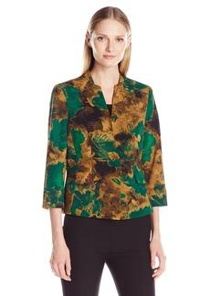 Kasper Women's Scuba Crepe 1 Button Jacket