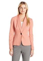 Kasper Women's Shawl Collar One Button Jacket