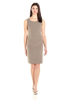 Kasper Women's Stretch Crepe Sheath Dress Round Neck