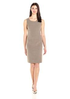 Kasper Women's Stretch Crepe Sheath Dress Round Neck
