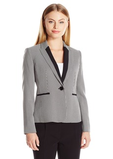 Kasper Women's Size Houndstooth 1 Button Jacket
