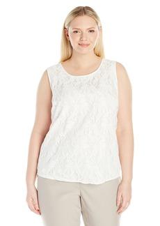 Kasper Women's Size Knit Lace Blouse  Petite Large