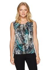 Kasper Women's Size Palm Print Ity Cami  Petite Medium