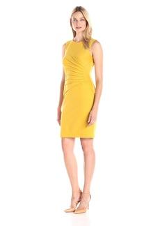 Kasper Women's Sleeveless Sunburst Dart Sheath Dress