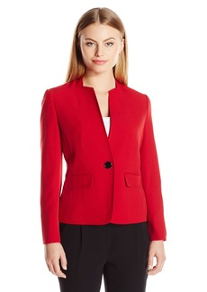Kasper Women's Size Stretch Crepe 1 Button Jacket