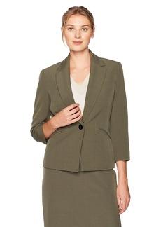 Kasper Women's Stretch Crepe 1 Button Jacket