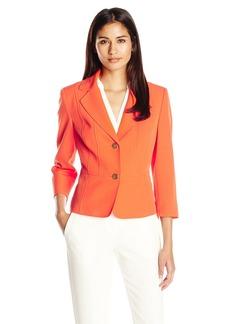 Kasper Women's Stretch Crepe 2 Button Jacket