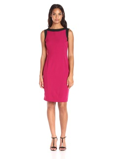 Kasper Women's Stretch Crepe Dress Geranium/Black