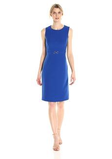 Kasper Women's Stretch Crepe Dress with Waist Treatment