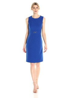 Kasper Women's Stretch Crepe Dress with Waist Treatment