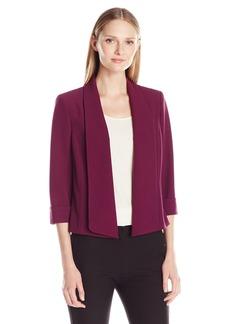 Kasper Women's Stretch Crepe Flyaway Jacket
