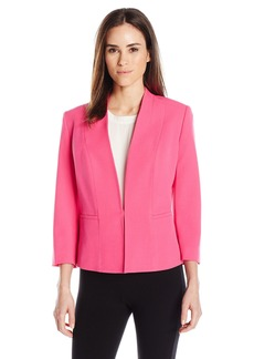 Kasper Women's Stretch Crepe Flyaway Jacket