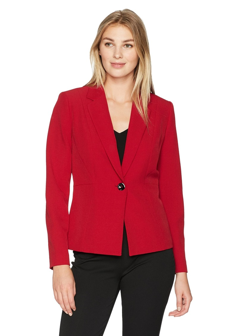 Kasper Womens Stretch Crepe Open Jacket with Front Detail