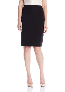 Kasper Women's Stretch Crepe Slim Yoke Skirt