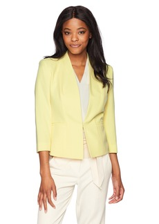 Kasper Women's Stretch Crepe Solid Open Jacket