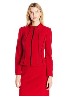 Kasper Women's Stretch Crepe Zip up Jacket