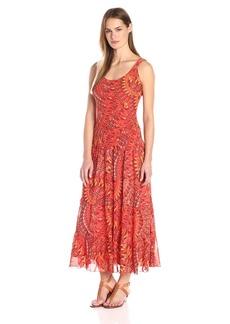 Kasper Women's Tank Tiered Chiffon Dress