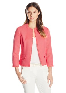 Kasper Women's Textured Flyaway Jacket