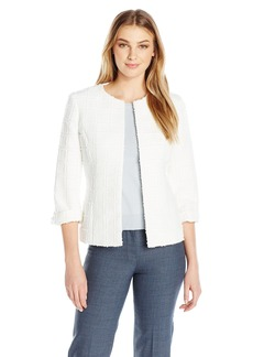 Kasper Women's Textured Novelty Flyaway Jacket