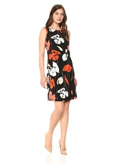 Kasper Women's Tropical Printed Crepe Dress