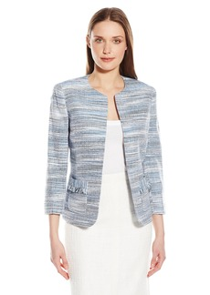 Kasper Women's Tweed Flyaway Jacket