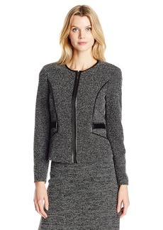 Kasper Women's Tweed Zipper Front Jacket