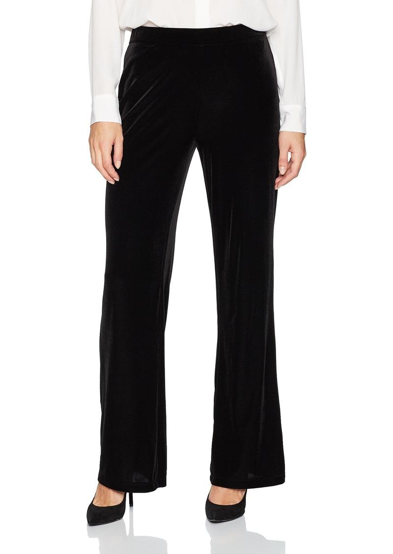 Kasper Women's Velvet Wide Leg Pant  L
