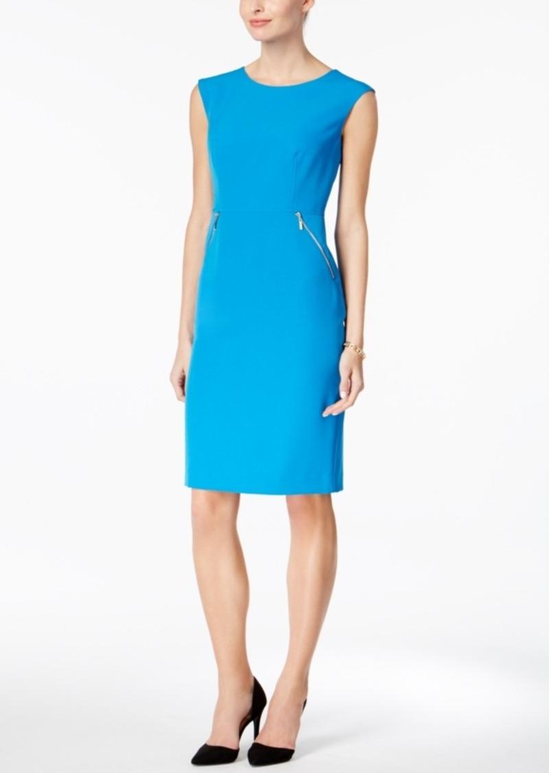 a471fbc7 SALE! Kasper Kasper Zip-Pocket Sheath Dress