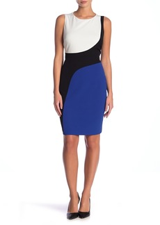 Kasper Sleeveless Color Blocked Dress