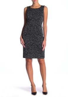 Kasper Sleeveless Jacquard Dress