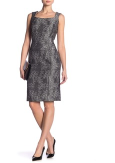 Kasper Sleeveless Textured Woven Dress