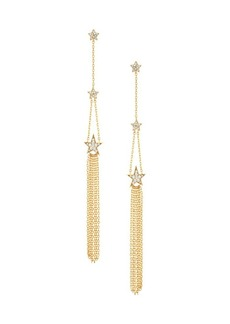 Kate Spade 12K Goldplated & Cubic Zirconia Star Linear Earrings