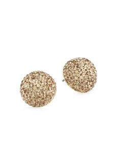 Kate Spade 12K Goldplated & Embellished Dome Stud Earrings