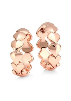 Kate Spade 12K Goldplated Heart Huggie Hoop Earrings