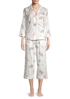 Kate Spade 2-Piece Cotton-Blend Printed Pajama Set
