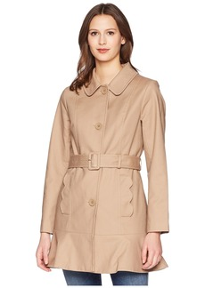 "Kate Spade 33.5"" Single Breasted Trench Coat w/ Tie Waist"