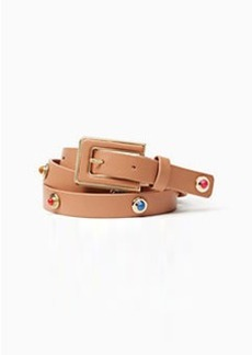 """Kate Spade 3/4"""" leather belt with enamel and metal studs"""