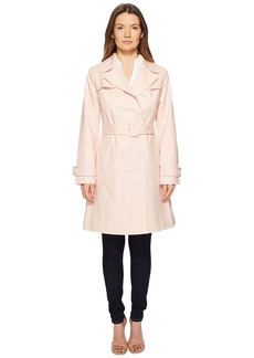 "Kate Spade 38"" Double Breasted Trench Coat w/ Tie Waist"